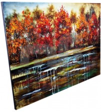 Affordable Colourful Stylish Modern New Wall Art Oil Painting Wooden Frame