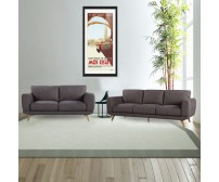 Modern Stylish Brown Alaska Sofa 3+2 Seater