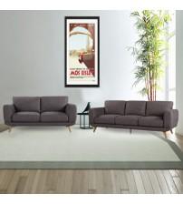 Modern Stylish Brown Alaska Sofa 3+2 Seater