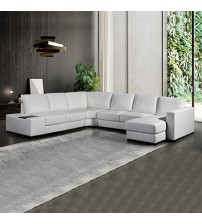 Diva 6 Seater Bonded Leather Sofa (New)