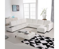 6 Seater Leather Sofa Diva