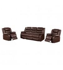 Dream Recliner Sofa Lounge Suite Leather Couch 3+1+1