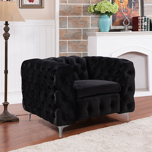 Jacques Black Colour 1S Sofa