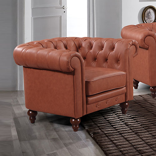 Madeline 1S Brown Colour Sofa