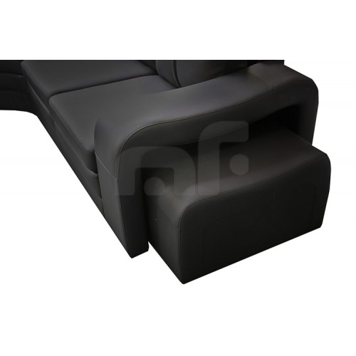 Buy Majestic Black 6 Seater Corner Sofa Online In
