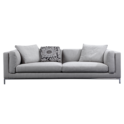 Carlton Grey Linen Fabric Cover Sofa