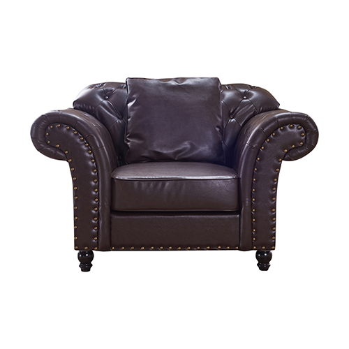 1 Seater Brown Francis Sofa