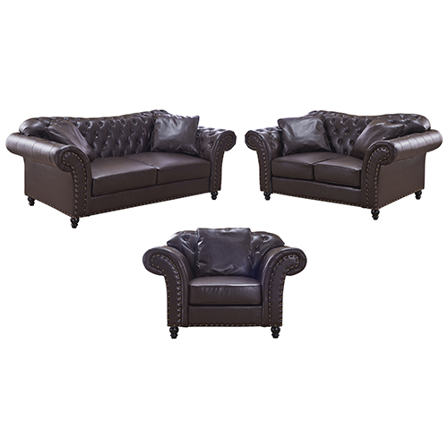 3+2+1 Seater Brown Francis Sofa