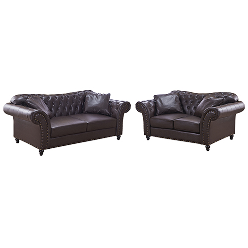 3+2 Seater Brown Francis Sofa