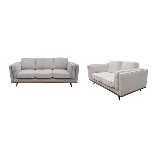 Stylish Leatherette Beige York 3+2 Seater Sofa
