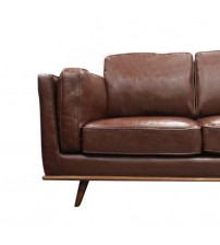 Stylish Leatherette Brown York 3+2+1 Seater Sofa