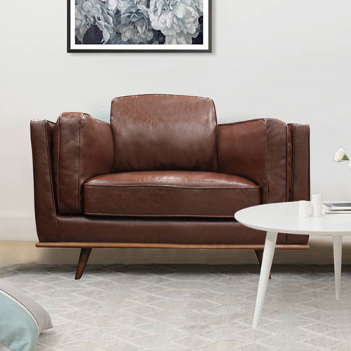 1 Seater Leatherette/Fabric Multiple Colour Sofa York