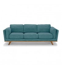 3 Seater Leatherette/Fabric Multiple Colour Sofa York