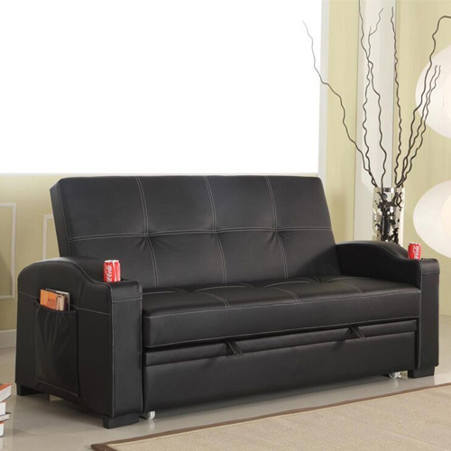 Maple 3 Seater Sofa Bed Black