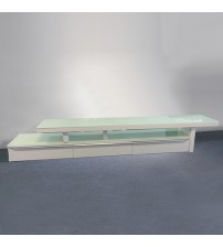 Rendo Tempered Glass Top TV Unit