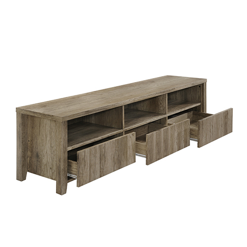 TV Cabinet 3 Drawers Wooden Leg Alice