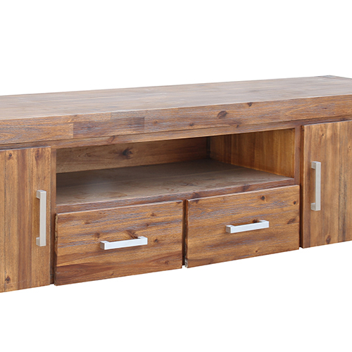 Brushed Walnut Colour TV Cabinet