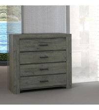 Acacia Turkish Green 4 Drawers Tallboy