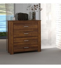 Arron Java Rustic 4 Drawers Tallboy