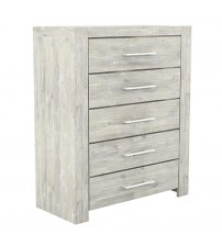 Arya Ash Ceram 5 Drawers Tallboy