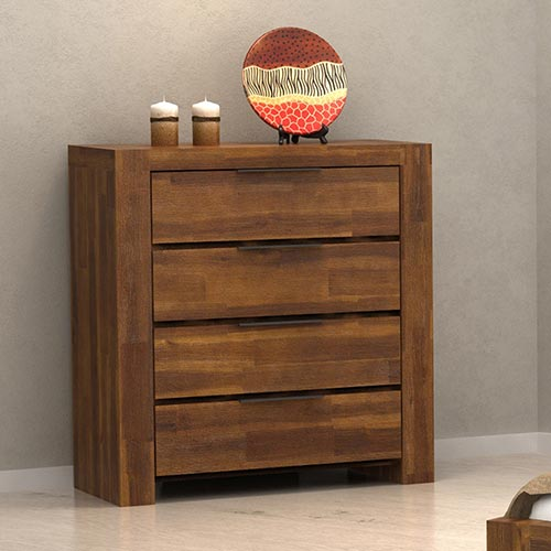 Aston Caramel Colour 4 Drawers Tallboy