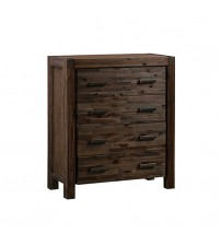 Java Oak & Chocolate Colour Tallboy