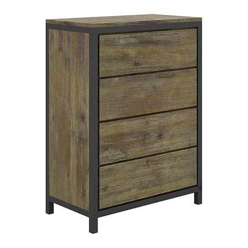 Nouva Boutique Grey 4 Drawers Tallboy