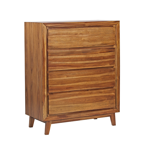 York Euro Walnut Wooden Tallboy