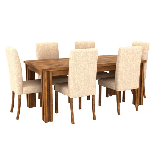 Sale Austin Almond Colour Dining Table With 6X Chair